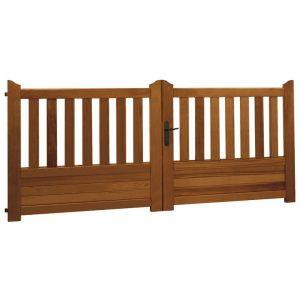 Portail battant bois LANDES avec accessoires réglables 130 x l.250