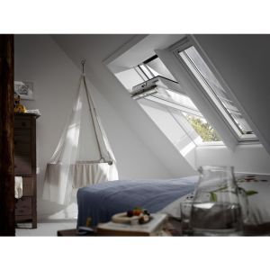 VELUX Confort BLANC Ever Finish - Rotation - GGU 0076 MK04