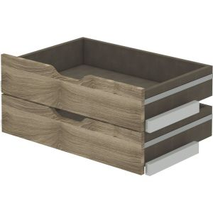 Lot de 2 tiroirs bois aménagement ESPACE chêne strié l.80 x P.50