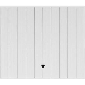 Porte de garage basculante Noviso blanc contemporain H.200 x l.300
