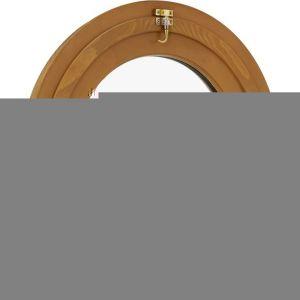 Oeil-de-Boeuf OVALE basculant CLASSIC PIN foncé H.90x l.60- P/Tabl. H.84x l.54
