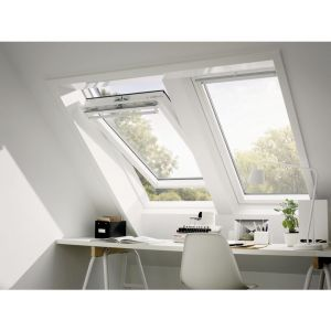 VELUX Confort - BLANC White Finish - Rotation - GGL 2076 CK01