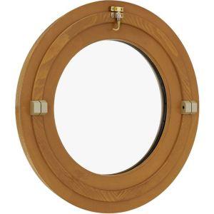 Oeil-de-Boeuf OVALE basculant CLASSIC PIN foncé- H.65x l.50 P/Tabl. H.59x l.44