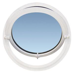 Oeil-de-Boeuf basculant PERFORMANCE ALU Blanc 9016 - diamètre 119 P/Tableau120