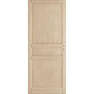 Porte seule chêne plaqué CLASSIQUE 2 H.204x83 cm
