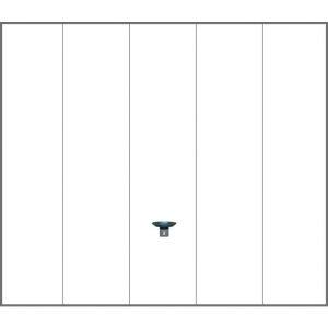 Porte garage basculante Ottawa blanc contemporain sans portillon H.200 x l.300