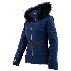Veste de ski Zenith fourrure véritable bleu foncé