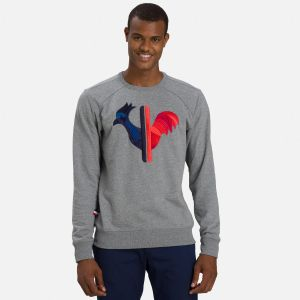Sweat brodé Rooster Homme GREY - Homme
