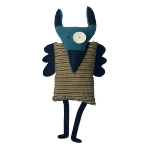 Doudou POK motif japonais rayé en coton Pschitt