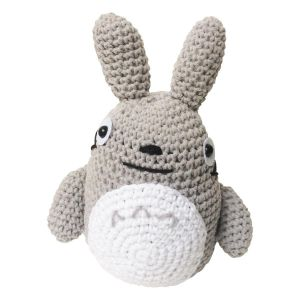 Peluche doudou Totoro crochet gris
