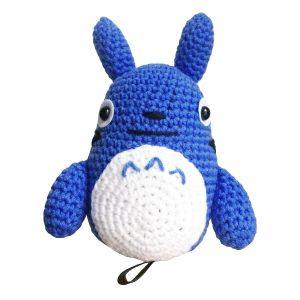 Peluche doudou Totoro crochet bleu
