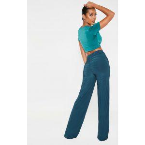 Pantalon ample slinky vert jaspe, Jasper Green - Taille 40