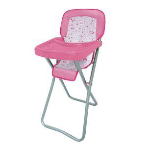 Chaise haute en métal