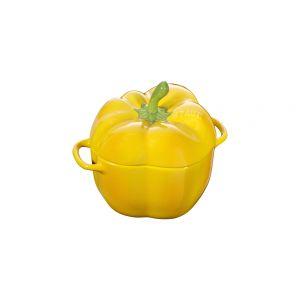 Cocotte céramique poivron, 12 cm