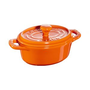 Mini cocotte céramique, orange