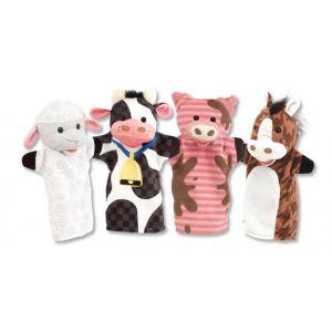 4 Marionettes Animaux de la Ferme