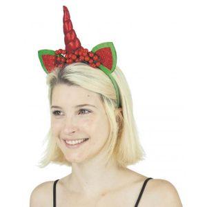 Serre tête licorne de Noël