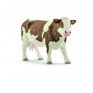 Figurine - Vache Simmental française