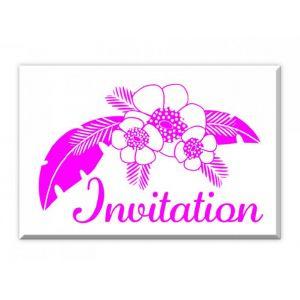 Tampon Bois D Invitation tropicale