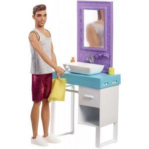Poupee Barbie - Ken et sa salle de Bain