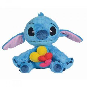 Peluche Stitch avec coeurs - 25 cm