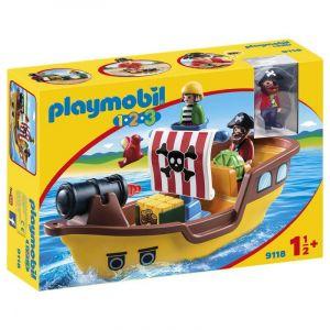 Playmobil 1.2.3 - Bateau De Pirates - 91