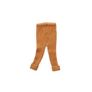 Pantalon côtelé ocre en alpaga 24m