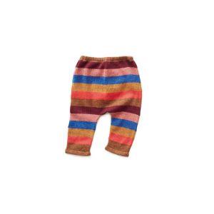 Pantalon rayé multicolore en alpaga 12m
