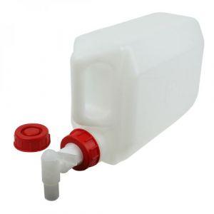 Bidon en plastique (PEHD) pour usage alimentaire avec bouchon + robinet - 5L