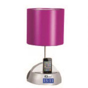 Mecer - MT311 - Station d'accueil iPhone/iPod - Lampe de chevet - Radio Réveil FM - Rose