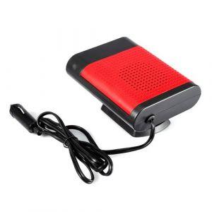 Ventilateur de pare-brise de dégivreur électrique de chauffage de fenêtre électrique portatif de la voiture 12V (Rouge)