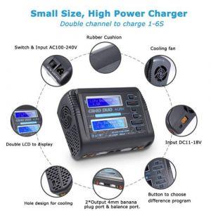 HTRC C240 ??Dual Channel RC Car balance batterie LiPo 1-6S intelligent Chargeur de batterie