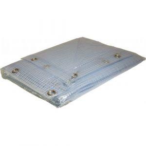 Bâche Armée PVC 6 x 10m 400g transparente Très haute résistance Garantie + de 10 ans