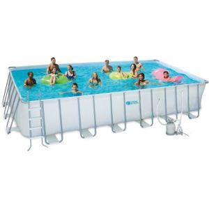 piscine tubulaire ludo 3 - 5.49 x 2.74 x 1.32 m - filtre sable