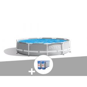 Kit piscine tubulaire Intex Prism Frame ronde 3,05 x 0,76 m + 6 cartouches de filtration
