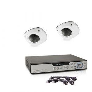 Kit de vidéosurveillance 5 Mpx intérieur extérieur avec enregistreur IP 1To et 2 caméras dôme HD 1080P PoE