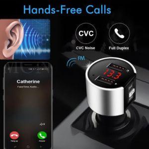 Bluetooth allume-cigare MP3 FM transmetteur sans fil double chargeur Kit mains-libres LCD USB