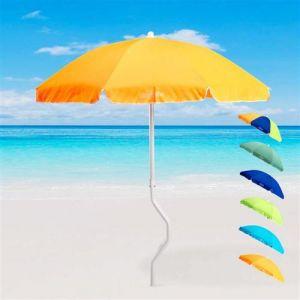 Parasol de plage 180 cm coton pêche GiraFacile DIONISO, Couleur: Orange