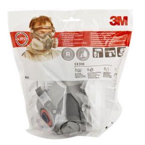 Demi-masque respiratoire gaz et vapeur 3M + Cartouches spéciales peinture A2P2
