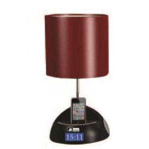 Mecer - MT311 - Station d'accueil iPhone/iPod - Lampe de chevet - Radio Réveil FM - Rouge
