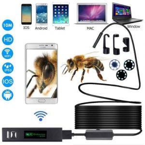 Endoscope Sans Fil WiFi 1200 P Caméra D'inspection 2.0 Megapixels HD Serpent Caméra Pour Android IOS Smartphone Avec 10M de fil dur