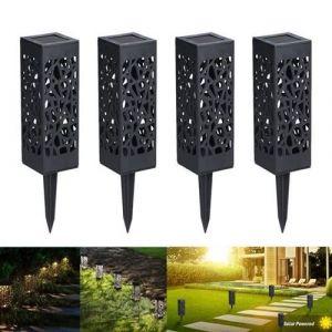 4pcs Lampe Solaire de Jardin LED Lanterne étanche Borne d'Eclairage décoration patio cour- Lewin Deal