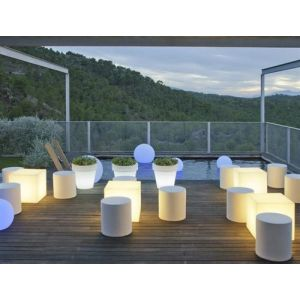 Cube lumineux Cuby 40 Newgarden outdoor solaire+batterie rechargeable led/rgb