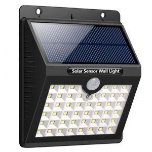 Lampe Solaire Extérieur Jardin Détecteur Mouvement LED (x46) Étanche et Puissante – Daffodil LEC800 – Applique murale