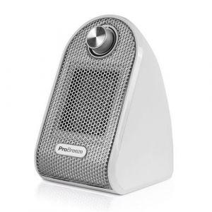 Pro Breeze Mini Radiateur Soufflant Compact pour Les Bureaux et Les Tables - Chauffage d'appoint Céramique PTC, Blanc