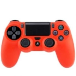 PS4 Coque Housse Silicone Manettes Rouge