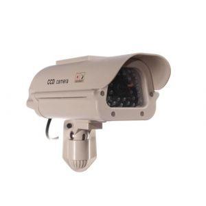 Sol1500 fausse camera espion led panneau solaire cctv ir caméra de surveillance factice cee