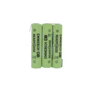 Pack d'accus 3x R03 (AAA) NiMH Emmerich 255062 3.6 V 800 mAh