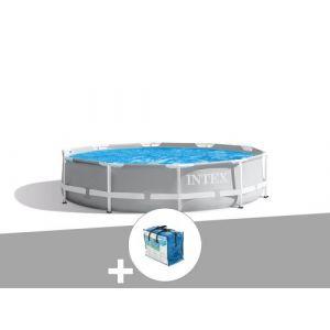 Kit piscine tubulaire Intex Prism Frame ronde 3,05 x 0,76 m + Bâche à bulles