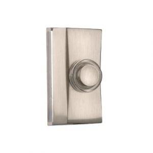 BOUTON DE SONNETTE FILAIRE RECTANGLE LUMINEUX METAL INOX BYRON 7960